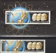Astronaut Glenn USA 1962 Ungarn 1818+Block 33 ** 39€ Kosmonaut Gagarin Titow Bloque Ss Space Bloc Sheet Bf Hungary - Space
