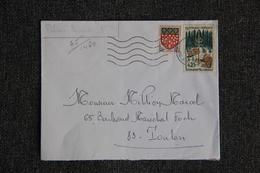 Enveloppe Timbrée Envoyée De  TOULON à Destination De TOULON ( YT/ 1460 ) - Marcophilie (Lettres)