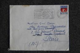 Enveloppe Timbrée Envoyée De PONT AVEN à ST RAPHAEL Puis à Destination De PARIS ( YT/  ) - Marcophilie (Lettres)
