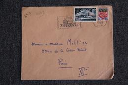 Enveloppe Timbrée Envoyée De TOULON à Destination De PARIS ( YT / 1448 ) - Marcophilie (Lettres)