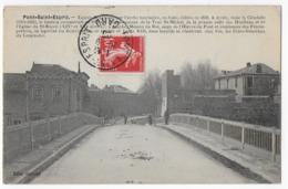 Cpa Bon Etat , Pont-st-esprit , Entrée De La Ville Par L'arche Marinière,  Timbre Courrier Au Verso , Carte Rare - Pont-Saint-Esprit