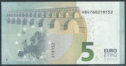 € 5 SPAIN  VB V010 A6  DRAGHI  UNC - 5 Euro