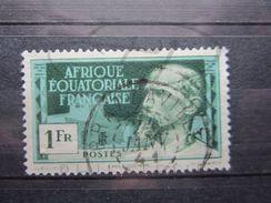 "VEND BEAU TIMBRE D ' A.E.F. N° 82 , OBLITERATION "" BRAZZAVILLE "" !!! - A.E.F. (1936-1958)"