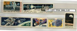 THEMATIC-TOPICS#SPACE #APOLLO USA#SMALL SELECTION#MNH** (TFIX-200L-1 (01) - Space