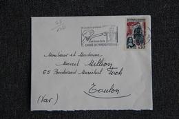 Enveloppe Timbrée Envoyée De PARIS à Destination De TOULON ( YT / 1461 ) - Marcophilie (Lettres)