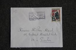 Enveloppe Timbrée Envoyée De TOULON à Destination De TOULON ( YT / 1461 ) - Marcophilie (Lettres)