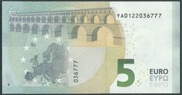€ 5 GREECE  Y001 G3  DRAGHI  UNC - 5 Euro