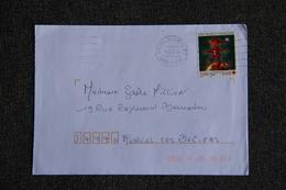 Enveloppe Timbrée Envoyée D'ANGERS à Destination De MURVIEL( YT /  ) - Marcophilie (Lettres)