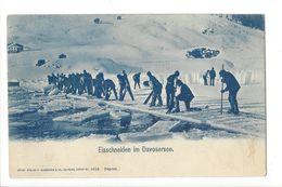 17452 - Eisschneiden Im Davosersee - GR Grisons