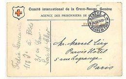 QQ12 1914 WW1 SWTZERLAND Genève FRANCE Paris Postcard RED CROSS - Sin Clasificación
