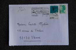 Enveloppe Timbrée Envoyée De TOULON à Destination De VANVES ( YT / 2463 ) - Marcophilie (Lettres)