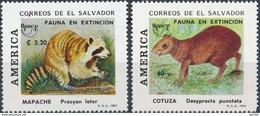 El Salvador  Fauna - Postzegels