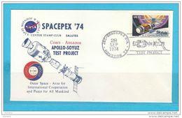 LETTRE / ENVELOPE / UMSCHLAG APOLLO SOYUZ .SPACE  . !! SUPER SALE !! ..N44  USA SPACEPEX '74 - Space