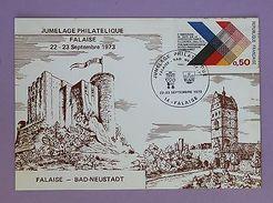 Cartes Postale Premier Jour - Jumelage Philatélique Falaise Bad-Neustadt 1973 - FDC