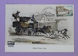 Cartes Postale Premier Jour - Malle Poste 1842 - Saint Lo 1965 - FDC