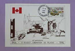 Cartes Premier Jour - 50 Ans Libération De Falaise Hommage Aux Libérateur 1994 - FDC