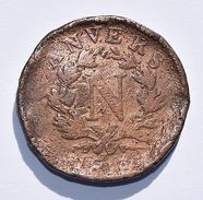 Pièce De Monnaies France - 10 Centimes Cuivre Anvers 1814 - France