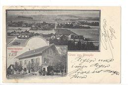 17455 - Gruss Aus Bümpliz Bahnhof Restaurant + Cachet Linéaire - BE Berne