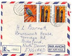VV346 1973 Nouvelles Hebrides Devon GB England Cover {samwells-covers} - Sin Clasificación