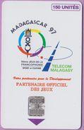 Télécarte Madagascar °° 14-Jeux Francophonie-1997 - Madagascar