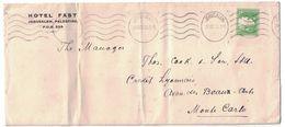 1930 PALESTINE - LETTRE AFFRANCHIE 3 De JERUSALEM Pour MONTE CARLO MONACO ENTETE HOTEL FAST - Palestina