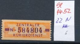 DDR ZKD - Nr. 22 N   ** (se4452 ) Siehe Bild ! - DDR