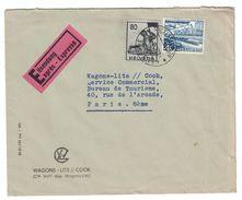 1958 ALLEMAGNE - LETTRE RECOMMANDÉE De HALLE SAALE Pour PARIS FRANCE MIT LUFTPOST EINSCHREIBEN (OBERARZT WERNER) - [6] Democratic Republic