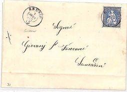 VV219 1865 Switzerland *BRUSIO* CDS Grissow STANDING HELVETIA {samwells-covers} - Sin Clasificación
