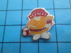 Pin611c Pin's Pins : Rare Et Belle Qualité ALIMENTATION / ALZAGEL FRITES HAMBURGER - Food