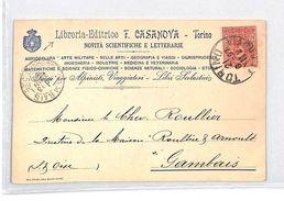 BM159 Italy 1897 Torino Postcard Gambais France {samwells-covers} PTS - Sin Clasificación