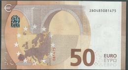 50 EURO BELGIUM  ZB  Z002 E5  - DRAGHI   UNC - EURO