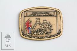 1989 Brooch/ Badge German Jugendfeuerwehr/ Firefighters Youth Camp - Scharbeutz - Bomberos