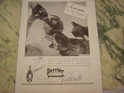 ANCIENNE PUBLICITE 2 AMOURS SES SKIS ET SON PERRIER  1937 - Posters