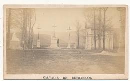 Calvaire De BETHARRAM - Photo CDV 1873 - Prières Au Verso - Photos