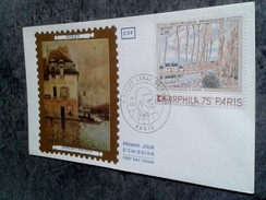 FDC FRANCE PREMIER JOUR FIRST DAYS  SISLEY INONDATION A PONT MARLY ARPHILA 75 - FDC