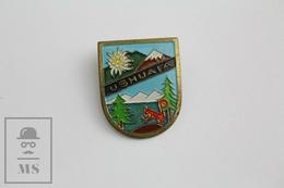 Vintage Ushuaia, Argentina Tourism Badge - Fútbol