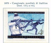 PIA - AUST - 1978  : Campionati Del Mondo Di Biathlon A Hochfilzen.  -   (Yv 1396) - Inverno