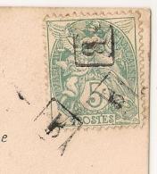 """Type BLANC Annulé BOITE URBAINE B Pour GENNES Maine Et Loire. (manuscrit """"jaine"""") - Postmark Collection (Covers)"""