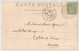 Facteur Boitier MONNETIER MORNEX Haute Savoie. 1902. - Cachets Manuels