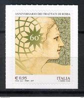 2017 -  Italia - Italy - 60° Anniversario Dei Trattati Di Roma  -  Mint - MN - 1946-.. République