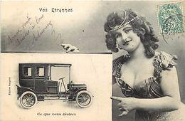Ref 273- Les Etrennes - Voiture Automobile  - Phototypie A Bergeret Nancy  - Carte Bon Etat  - - Bergeret