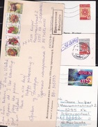 BELARUS 4 Modern Postcards With Stamps As Shown On 3 Scans !!! - Wit-Rusland