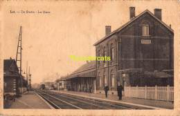 CPA LOT DE STATIE LA GARE TRAIN TREIN  ( PLOOITJES ! ) - Beersel