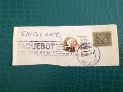 Portugal Fragment Oblitéré Paquebot Funchal - Storia Postale