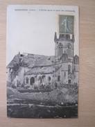 Sissonne - L'Eglise Après Le Retrait Des Allemands - Sissonne