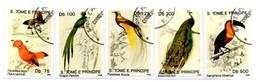 S.Tomé E Principe  SaoTomé En Principe. 1992. 5 Zegels Gestempeld. Vogels. Birds. - Sao Tome En Principe