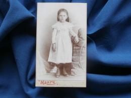 Photo CDV Maury à Marseille - Jolie Fillette En Pied Vers 1895-1900 L322 - Photographs