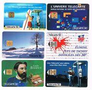 ) FRANKRIJK   6  VERSCHILLENDE  TELECARTES   50   UNITES - France