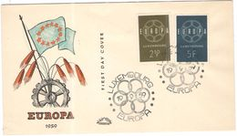 LUSSEMBURGO - LUXEMBOURG - 1959 - Europa Cept - FDC - FDC