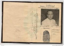 ARGENTINA 1938  PASSPORT - PASSEPORT - FRANCE - UK  -PORTUGAL- SPAIN VISAS & REVENUE STAMPS - Historical Documents
